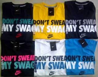 NWT Nike Men DONT DONT SWEAT MY SWAG T Shirt XL L Jordan Kobe LeBron