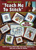 TEACH ME TO STITCH~Counted Cross Stitch BOOK~SEE PICS