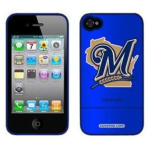 Milwaukee Brewers M in Blue on Verizon iPhone 4 Case by