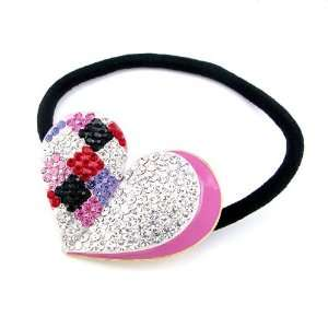 Perfect Gift   High Quality Charming Pink Heart Hair Tie