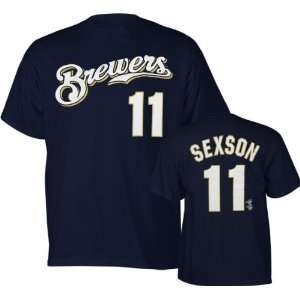Milwaukee Brewers Youth #11 Richie Sexson T Shirt Sports