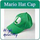Super Mario Bros Cosplay Baseball Hat Luigi Green Cap