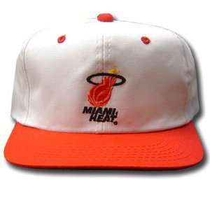NBA MIAMI HEAT WHITE RED FLAT BILL YOUTH KIDS CAP HAT
