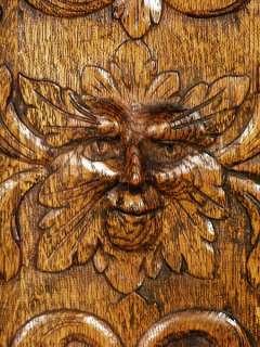 Antique Victorian Oak Carved Sideboard Server Buffet