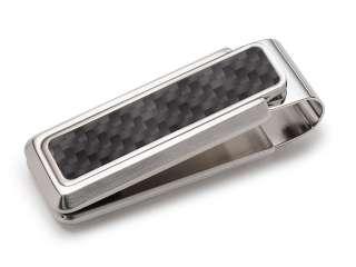 Clip Stainless Steel & Black Carbon FIber Money Clip