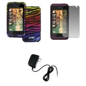 EMPIRE HTC Rhyme Black with Multi Color Zebra Stripes