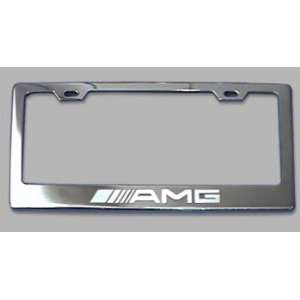 Mercedes Benz AMG Chrome License Plate Frame Everything