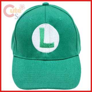 Super Mario Luigi Baseball Cap / Adjustable Hat  Cotton Canvas (Kids