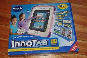 Vtech InnoTab Learning App Tablet, PINK/PURPLE, 80 126850 IN BOX, NOT