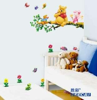 Winnie The Pooh Baby Nursery Room Wall Sticker Tree