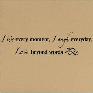 LARGE   Live well Laugh often Love much 20 h x 26 w