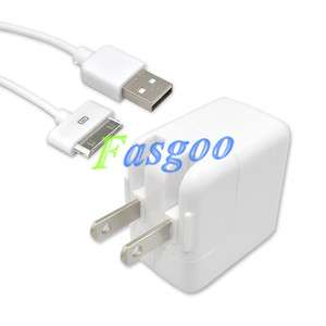 10W USB Wall Charger Adapter+Cable For iPod iPad 1/2 iPhone 4/3GS/3G