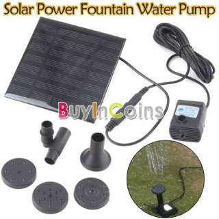 Solar Power Fountain Pool Water Pump Submersible Garden Plants