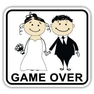 Game Over Marriage Divorce Funny Car Bumper Sticker Decal