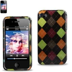 Hard Case Designed for Men IPhone 4 4S Black w/ Brown