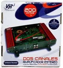 VR3 VRA2.0 200 WATT RMS 2 CHANNEL CAR AMPLIFIER+AMP KIT VRA2.0 RB