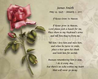 Personalized Memorial Poem For Loss Of Husband