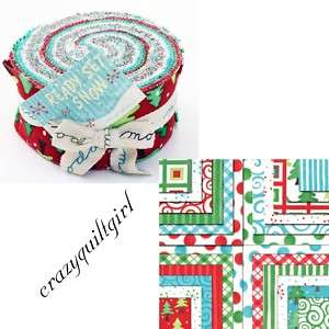 Moda READY SET SNOW Jelly Roll 40 2.5x44 fabric strips