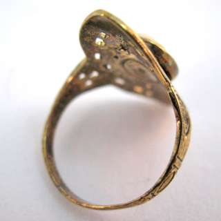 RARE VINTAGE Victorian CAMEO Gold Marked RING Size 7.75