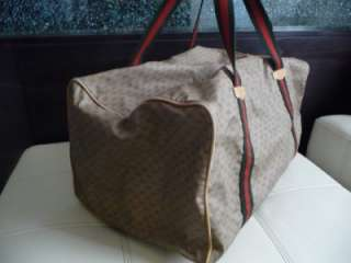 GUCCI Vintage Carry on Signature Luggage Duffle Gym Bag