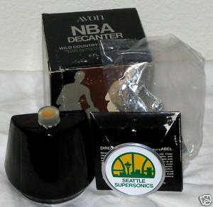 SEATTLE SUPERSONICS 1970s AVON DECANTER BOTTLE   VG |