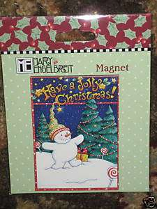 MARY ENGELBREIT HAVE A JOLLY CHRISTMAS SNOW TOT MAGNET