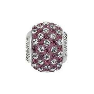 Lovelinks® by Aagaard   Sterling Silver Purple/Clear Crystal Ball