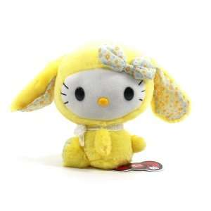 Eikoh Hello Kitty Lop Ear Bunny Plush   7 Yellow Toys