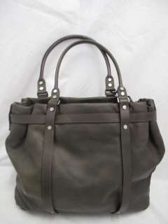 Lanvin Army Green Leather Silver Studded Large Kentucky Tote Bag