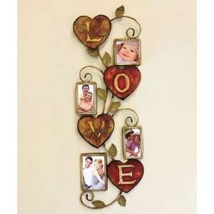 Love Metal Wall Art with Frames