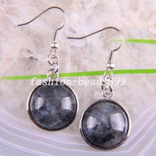 Labradorite Gemstone Beads Dangle Earrings U179