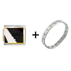 Classic Piano Keys Italian Charm Pugster Jewelry