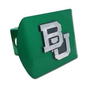 Baylor University Bears Green with Chrome BU Emblem NCAA College
