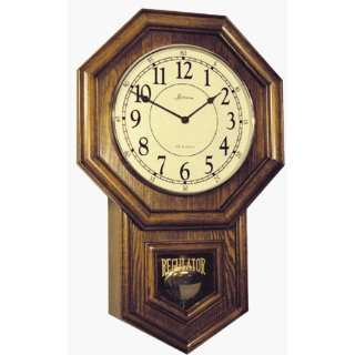 Regulator Glass Quartz Movement Wood Wall Clock