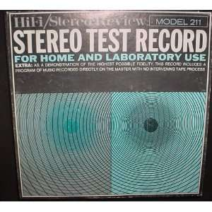 HiFi/Stereo Review Model 211 Stereo Test Record For Home