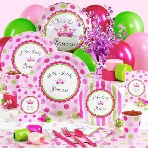 A New Little Princess Baby Shower Deluxe Party Pack for 16