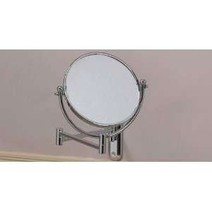 Hardwired Lighted Vanity Mirror : Aptations Chrome Hardwired Swing Arm Lighted Vanity Mirror #J5305