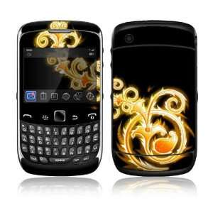BlackBerry Curve 3G Decal Skin Sticker   Abstract Gold