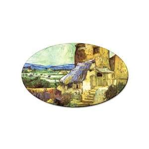 The Old Mill By Vincent Van Gogh Oval Sticker Everything