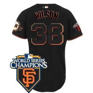 San Francisco Giants #38 Brian Wilson Black 2011 MLB