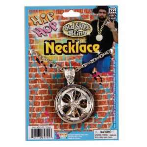 Hip Hop Spinning Necklace   Silver Accessory [Apparel