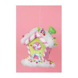 5.5 Cupcake Heaven Candy House Pink with Green Chimney