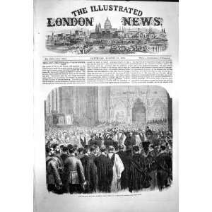 1863 FUNERAL FIELD MARSHAL LORD CLYDE WESTMINSTER ABBEY