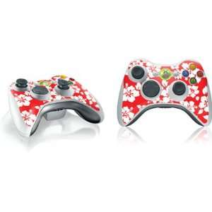 Red and White Vinyl Skin for 1 Microsoft Xbox 360 Wireless Controller