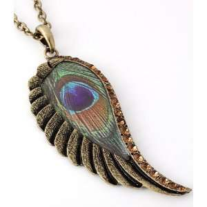 Antique Gold Wing Necklace
