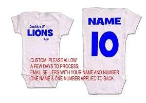 lions baby onsie romper jersey detroit shirt fan top