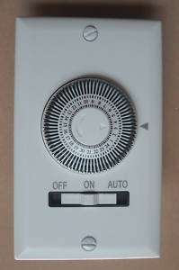 NEW 24HOUR HEAVYDUTY MECHANICAL INDOOR WALL TIMER WHITE