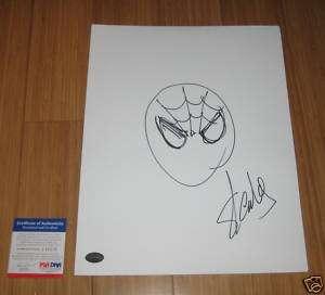 Stan Lee Signed Spider Man Drawing PSA/DNA