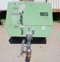 PORTABLE AIR COMPRESSOR TRAILER MOUNTED JOHN DEERE DIESEL POWER 4.5L