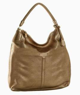 NWT Cole Haan Avery Village Collection Gold Leather Medium Hobo